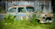 Old, rusted car